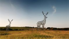 Why isn't this for real? Great design integrates into the environment. DeerShaped Pylons Concept by Designdepot