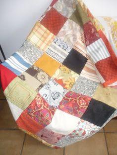 MARCIA BARRETTO patchwork: Manta para sofá