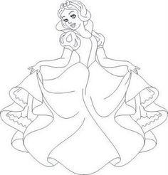 Imagens para colorir Branca de Neve - Desenhos e Riscos