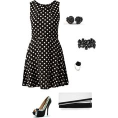 """Black & White"" by jessica-melissa on Polyvore"