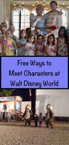 Free character experiences at Walt Disney World. No meal, no park admission, no line ups, no sign ups. 100% no cost. Get the details.