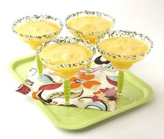 Most mango margarita recipes call for frozen mangos but I love this one that uses fresh. Fresh Mango Margarita from FoodNetwork.com