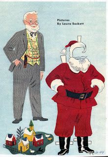 inkspired musings: Holiday Paper dolls also Mrs. S and a set of bears at Christmas Christmas Paper, Kids Christmas, Vintage Christmas, Christmas Crafts, Father Christmas, Homemade Christmas, Christmas Ornaments, Vintage Paper Dolls, Vintage Toys