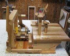 Most versatile homemade joint making machine I have seen... Period! Must make one.