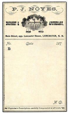 Vintage Clip Art - Antique Druggist Label - The Graphics Fairy                                                                                                                                                                                 More