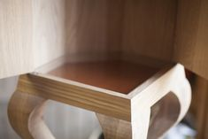 Cabinett Kawayo - for your most precious things or collections. Lined with deerskin in the botten. Glastop.