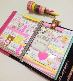 Coloursnme: Rilakkuma Inspired week in my Kikki-K Fuchsia Personal Planner