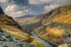 Honister Pass Slate by dmass, via Flickr. View down Honister Pass in Cumbria from the Slate mine at the top of the pass.