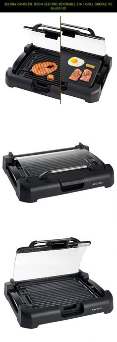 Secura GR-1503XL 1700W Electric Reversible 2 in 1 Grill Griddle w/ Glass Lid #plans #drone #tech #technology #camera #parts #shopping #products #indoor #fpv #kit #grills #gadgets #electric #outdoor #racing
