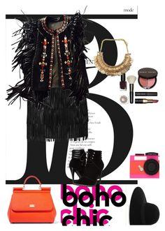 """Boho"" by dorachelariu ❤ liked on Polyvore featuring Alice + Olivia, Isabel Marant, Maison Michel, C Label, Bobbi Brown Cosmetics, Dolce&Gabbana and Kate Spade"