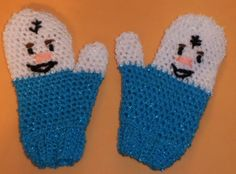 FROZEN-INSPIRED / MITTENS/ SIZE: TODDLER TO YOUNG STUDENT;OLAF-LIKE; NEW #Handmade #Mittens