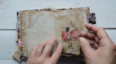 """Vintage style junk journal """" Never stop dreaming """". ( sold )"""
