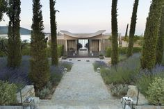 Asian Inspired Entrance of La Reserve Ramatuelle by Jean-Michel Wilmotte, France