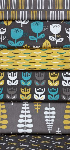 for my gray turquoise & yellow wedding...fabric for bridesmaid clutches and groomsmen suit pocket squares?