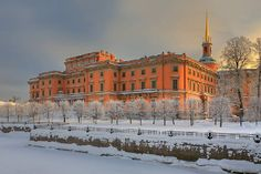 Mikhailovsky Castle, St. Petersburg. Mikhailovskiy Castle reflects Emperor Paul I's fascination with medieval chivalry, mysticism, and the military. Constantly afraid of assassination, he preferred not to live in the Winter Palace. Paul lived in his home for only 40 days before he was assassinated in his bedroom on 12 March 1801. His son immediately moved the Imperial family back to the Winter Palace and in 1819 the abandoned palace became home to the Engineering School of the Russian Army