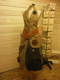 dress made from mens jackets