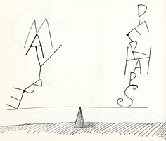 Maybe - perharps. Saul Steinberg.
