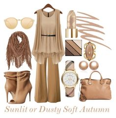 A fashion look from March 2016 by prettyyourworld featuring STELLA McCARTNEY, Burberry, Amour de Pearl, Henri Bendel, Linda Farrow and Smashbox Soft Autumn Deep, Warm Autumn, Soft Autumn Color Palette, Autumn Colours, Spring Colors, Color Combinations For Clothes, Autumn Lights, Light Spring, Fall Wardrobe