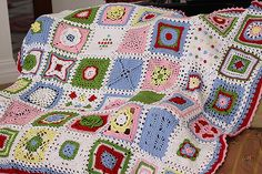 The Jan Eaton Blanket  found on Crafting on the Coast.  Love all the different designs.  This is what I would like to do for my next afghan.  Something this creative and beautiful.