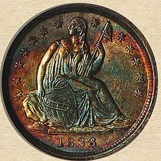 1838 Seated Liberty Half Dime obverse