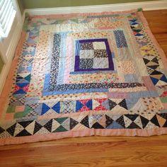 antique patchwork quilt, eBay, gonzar8