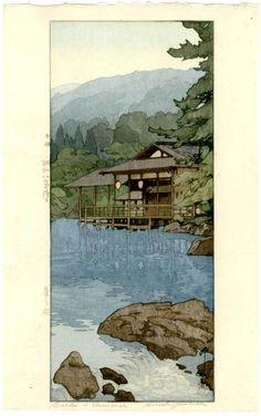 Hiroshi Yoshida Japanese Woodblock Print Summer Garden 1933 Jizuri Seal | eBay