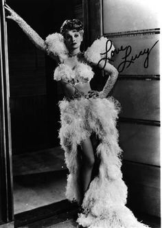 A rare autographed photo of Lucy (signed Love Lucy Ball