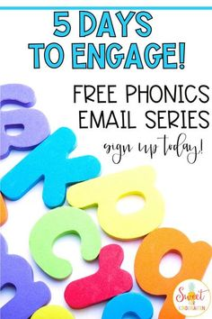 Have questions about the best ways to teach phonics skills to kindergarten, preschool, or first grade students? This FREE email series is the perfect way to learn strategies, ideas, and actionable tips to help students master phonics skills and build a solid foundation. Click the pin to sign up for tons of free phonics information!