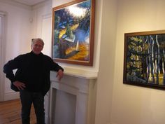Philip Koch with his oil The Voyage of Memory just before the opening reception Feb. 14 for the Edward Hopper House Art Center's exhibition Philip Koch: Landscapes and Hopper Interiors. The show runs through April 12, 2015. www.edwardhopperhouse.org