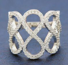 ▌Women's 925 Sterling Silver Pave White CZ INFINITY Ring Size 6,7,8,9,10 » R58…