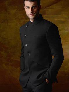 9b8460933 Jodhpuri suit in all black Style Noir, Men's Style, Western Suits, Dinner  Suit