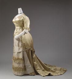 1877-1882, Europe - Silk evening dress