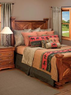 Cascade Bedding Set. $582. Lodge bedding and rustic bedding sets are a great way to liven up your room. Moose theme bedding, cabin theme bedding.