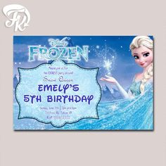 Frozen birthday supplies frozen birthday supplies birthday elsa frozen birthday card party digital invitation stopboris Images