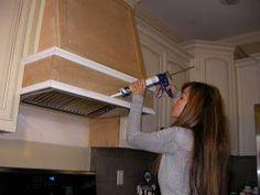kcfauxdesign.com: DIY Decorative Hood Range Vent | House Ideas