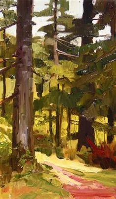 """Forest Trees Dosewallips State Park paint out , plein air , landscape painting by Robin Weiss"" - Original Fine Art for Sale - © Robin Weiss"
