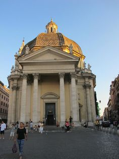 Santa Maria dei Miracoli, Rome - one of the twin churches at Piazza del Popolo.