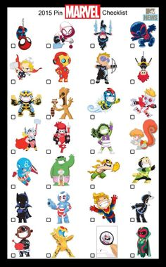 9d5e641441 Marvel Pin Checklist by Skottie Young   Baby Marvel