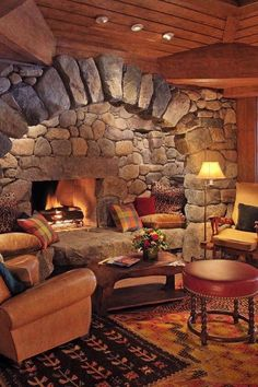 Pillows next to the fireplace? Lake Placid Lodge Lake Placid, New York duplicate living room property Fireplace home cottage log cabin farmhouse hearth Home Fireplace, Fireplace Design, Fireplace Seating, Fireplace Ideas, Basement Fireplace, Inglenook Fireplace, Small Fireplace, Fireplace Hearth, Style At Home