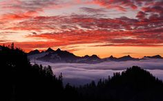 Mountain Sunrise Sunset Scenery | Sunrise Sunset Mountain Lake Nature Fog Forest Landscape HD Photos ...