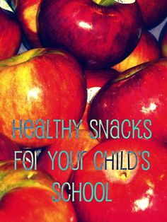 Healthy snacks for your child to take to school. healthy-children abs