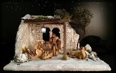 Resultado de imagen de orientalische weihnachtskrippe Beaded Christmas Ornaments, Christmas Decorations, Merry Little Christmas, Xmas, Christmas Nativity Scene, Ceramic Houses, Portal, Cribs, Diy And Crafts
