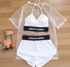 Adidas Two piece set Swag Outfits For Girls, Boujee Outfits, Cute Lazy Outfits, Cute Swag Outfits, Girls Fashion Clothes, Tumblr Outfits, Teen Fashion Outfits, Sporty Outfits, Teenager Outfits