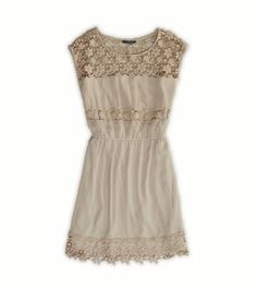 AE Crochet Cinch Dress-This would be so cute with leather boots for fall. fb025b5b43ab9