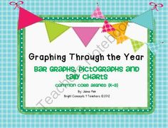 Graphing Through the Year! Common Core Aligned from Bright Concepts 4 Teachers on TeachersNotebook.com (59 pages)