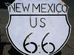 Route 66 Highway Sign, Grants, New Mexico