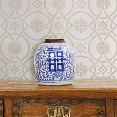 Wall Stencils | Eastern Tile Stencil | Royal Design Studio Stencils