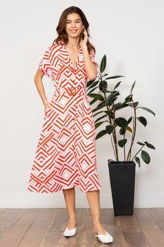 fc702547bf LUCY PARIS - Tina Geometric Dress #red #dresses #womens #mod #modern