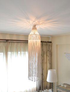 macrame ceiling light #macrame #macramelight #light #ceilinglight #boho #bohemian #homedecor #interiordecor #handmade