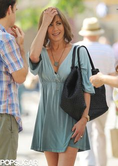 Jennifer Aniston – on the set of 'Squirrels to the Nuts' in NYC 1012654 Jennifer Aniston Style, Jennifer Aniston Pictures, Nancy Dow, Jennifer Aniston Horrible Bosses, Jennifer Anisten, John Aniston, Joanna Gaines Style, Rachel Green, Jennifer Connelly